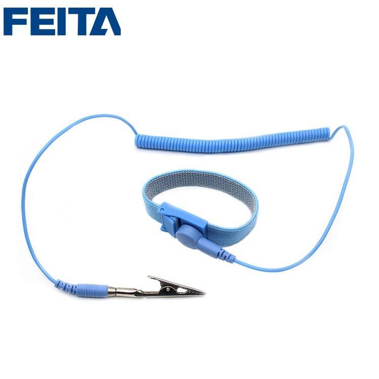 LEKO PU L=1.8M, 2.4M, 3M Wired Anti-Static ESD Wrist Strap Discharge Band Grounding Static-Release