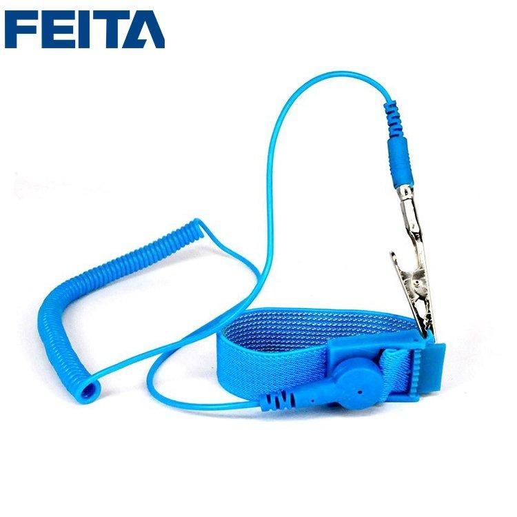 LEKO PVC L=1.8M Antistatic Cord Band Strap Elastic Esd Wired Wrist Strap