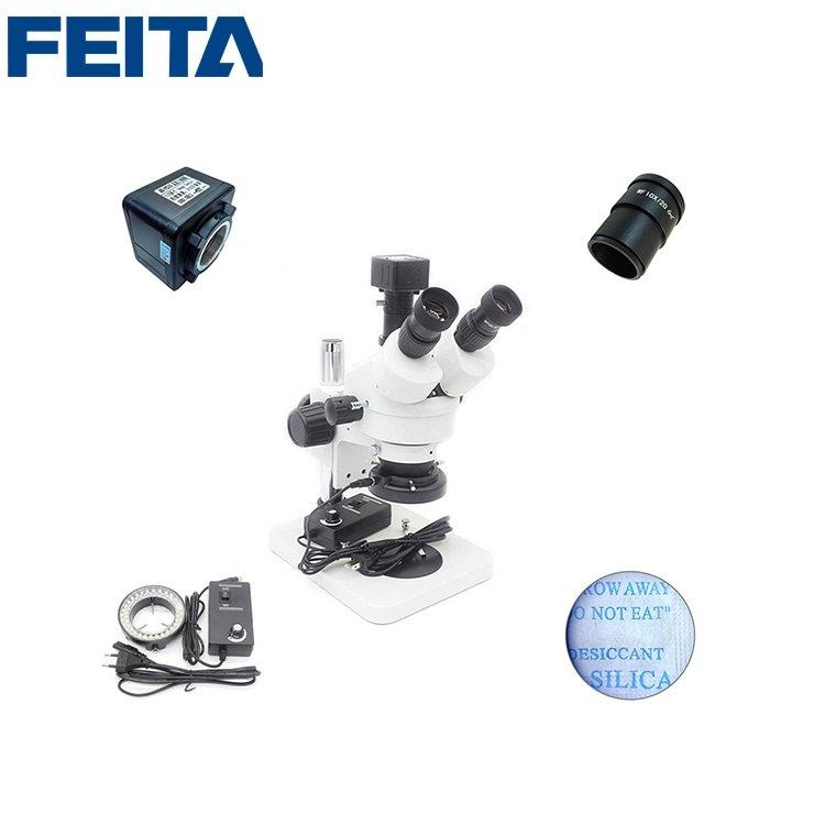 FTSM-45T1 Optical Instrument Digital Electronic LED Illumination Stereo Zoom Eyepiece Microscope