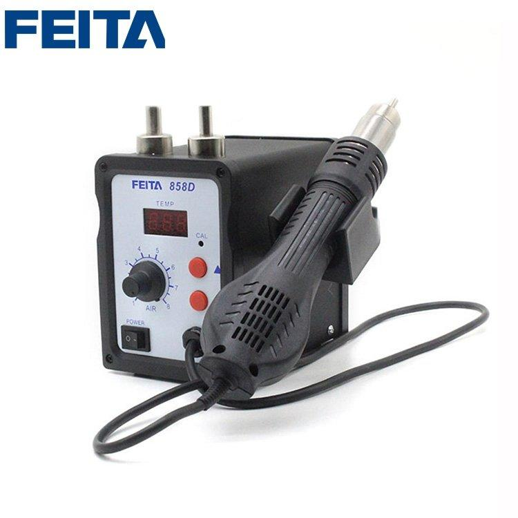 FEITA 858D Hot Air Heat Gun SMD Rework Desoldering Station Welding Equipment Mobile Phone Repair Tools