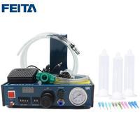 FEITA 983 Epoxy Resin Dispensing Machine Automatic Glue Dispenser Desktop Auto Fluid Glue Filling Dropper Dispensing Controller